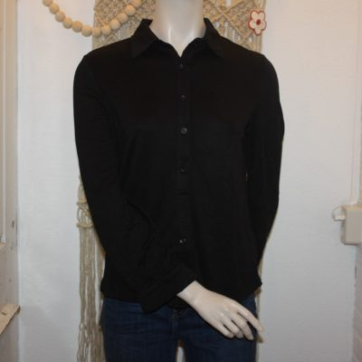 Trendy zwarte blouse