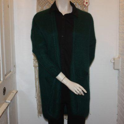 Trendy gebreid groen vest