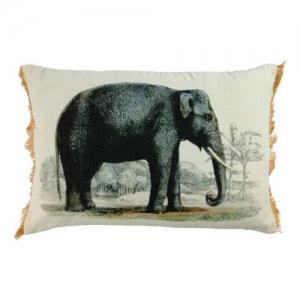 Kussen met olifant print